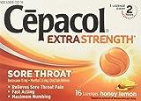 Cepacol Sore Throat Max Numbing Honey Lemon, 16 Count (Pack of 3)
