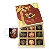 Chocholik Belgium Chocolates - 9pc Ultimate Assorted Collection Of Chocolate With Diwali Special Coffee Mug -...