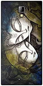 Snoogg Radha Krishna Designer Protective Back Case Cover For Micromax Canvas Express A99