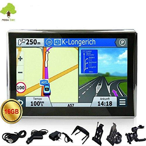 Noza-Tec-7-Zoll-KFZ-LKW-GPS-Navigationsgert-Navi-Navigation-POI-FM-16GB-50-Landkarten-Radarkameras