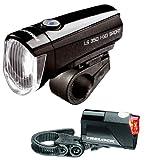 TRELOCK LED Leuchten Set LS 350/710 I-Go Sport Reego schwarz ~ 15 Lux Picture