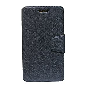 Jo Jo Cover Aarav Series Leather Pouch Flip Case With Silicon Holder For Samsung I9500 Galaxy S4 Grey