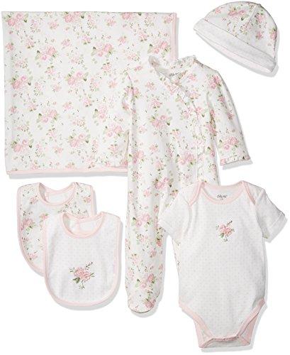 Little Me Girls' Newborn Essentials Gift Set, Pink Floral, 3 Months