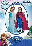 Simplicity Creative Patterns S0733 Disneys Frozen Pattern Costume for Children, A(3-4-5-6-7-8)