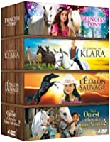 Cheval Coffret 4 DVD : Princess and Pony + Le cheval de Klara + L'étalon sauvage + Le cheval de St Nicolas
