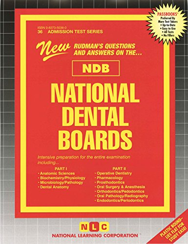 National Dental Boards (NDB) - Part I and Part II, One Volume (ATS 36) (Ats 36a)
