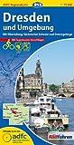 ADFC-Regionalkarte Dresden und Umgebung mit Tagestouren-Vorschlägen, 1:75.000, reiß- und wetterfest, GPS-Tracks Download: Mit Elberadweg, Sächsischer Schweiz und Osterzgebirge