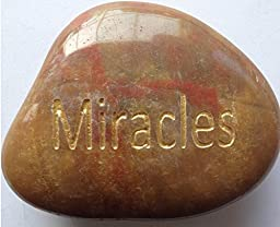 Miracles Engraved Inspirational Stones Keepsakes Or Gifts To Family & Friends (New Words)