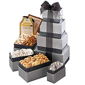 Broadway Basketeers Thinking of You Gourmet Gift Tower - A Gift Idea