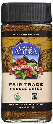Cafe Altura Organic Fair Trade Instant Coffee, Pack of 1 (Instant Coffee Fair Trade compare prices)