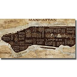 Manhattan Neighborhoods by Luke Wilson Premium Stretched Canvas (Ready to Hang)