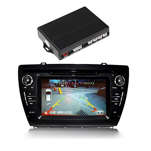 Video Car Parking Sensors Reverse Backup Radar System Kit Parking Assistance 4 Sensors 12V Work With Car Dvd Monitor front-1074626