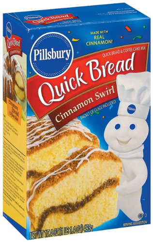 Pillsbury Cinnamon Swirl Quick Bread, 17.4-Ounce Boxes (Pack of 12) (Cinnamon Bread compare prices)