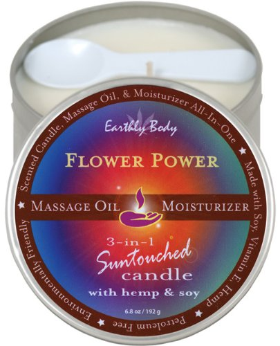 Suntouched Hemp Candle - 6.8 oz Round Tin Flower Power - EDO-8281-15