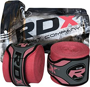 Buy Authentic RDX Pro Hand Wraps Bandages Black,Red,Blue,Pink, Boxing Gloves, MMA UFC by RDX