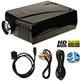LightInTheBox 3000 Lumens 3D LCD Projector With HDMI Input , Mini Home Theater Video Movie 3D Projectors Or Home...