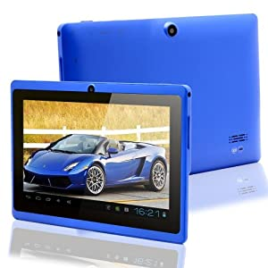 7.0 Capacitive Touch Screen 512M/4G Tablet PC All Winners A13 Jelly Beans Android 4.1 Cortex A8 Dual Camera BLUE from Zeepad