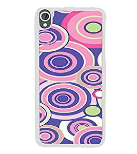 ifasho Animation Clourful Circle Pattern Back Case Cover for HTC Desire 820