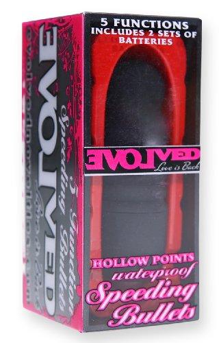 Evolved Speeding Bullets Vibrator Hollow Points Black