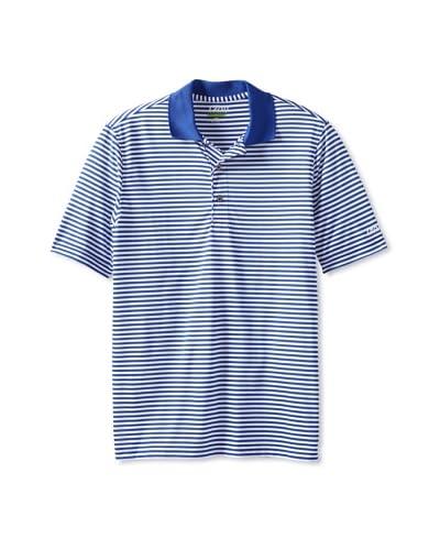 IZOD Men's Feeder Stripes Golf Performance Shirt