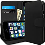 [Stand View] Caseology Apple iPhone 6 [Black / Black] Premium PU Leather [Wallet Case] with Built-in Media Stand, ID Credit Card / Cash Slots and Inner Pocket (For Verizon, AT&T Sprint, T-mobile, Unlocked) Reviews