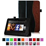 """Fintie Kindle Fire HD 7"""" (2012 Old Model) Slim Fit Leather Case with Auto Sleep/Wake Feature (will only fit Amazon Kindle Fire HD 7, Previous Generation - 2nd), Dual Color"""