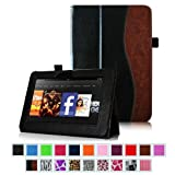 "Fintie (Dual-Color) Slim Fit Leather Case Cover Auto Sleep/Wake for Kindle Fire HD 7"" Tablet (will only fit Kindle Fire HD 7"") - 9 colors options"