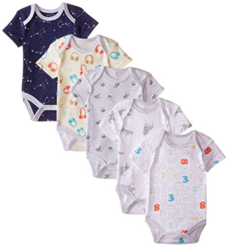 Rosie Pope Baby-Boys Multi Print Bodysuit (Pack of 5)