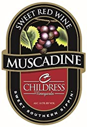 NV Childress Vineyards American Muscadine Sweet Red Wine 750 mL