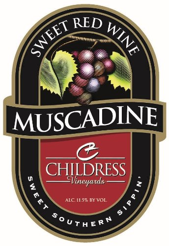 Nv Childress Vineyards American Muscadine Sweet Red Wine 750 Ml