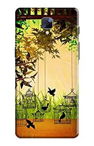 KanvasCases Back Cover for one plus 3 - morning cage birds