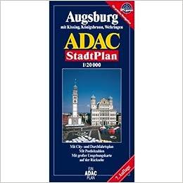 augsburg adac stadtplan 1 15 000 mit cityplan mit rad und wanderwegen mit postleitzahlen. Black Bedroom Furniture Sets. Home Design Ideas