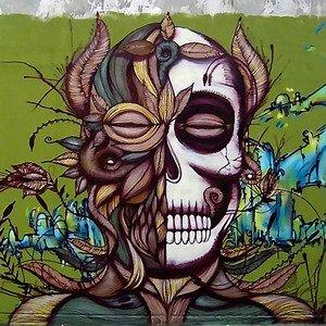 El Dia De Los Muertos Graffiti Art Ii Canvas Or Print Wall Art