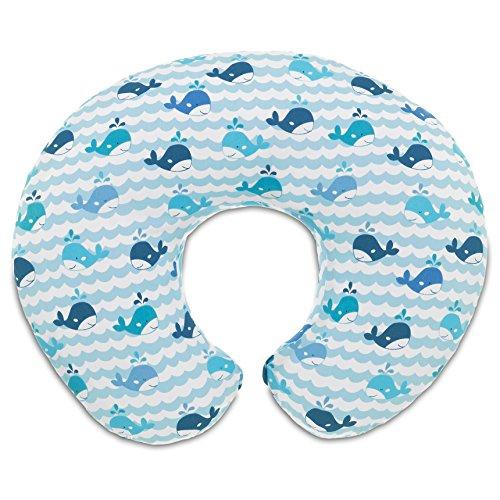 Chicco 08079902350000 Boppy Cuscino Allattamento, Blue Whales