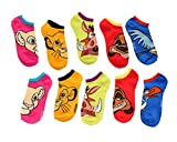 Disney The Lion King Faces No-Show Socks 5 Pack