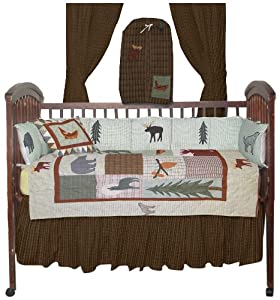 Patch magic mountain whispers crib bedding for Mountain crib bedding