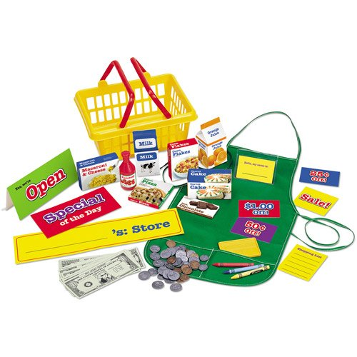 Kids Toys Supermarket Grocery Store Play Set Paper Play Money And Coupons