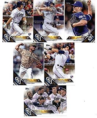 2016 Topps Baseball Series 1 San Diego Padres Team Set of 11 Cards: Craig Kimbrel(#13), Jedd Gyorko(#40), Matt Kemp(#112), Melvin Upton Jr.(#124), Colin Rea(#141), Yangervis Solarte(#148), Joaquin Benoit(#163), Travis Jankowski(#184), Alex Dickerson(#281)