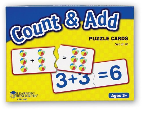 Learning Resources Count and Add Puzzle Cards - 1