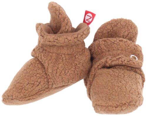 Zutano Unisex-Baby Newborn Cozie Fleece Bootie, Chocolate, 3 Months