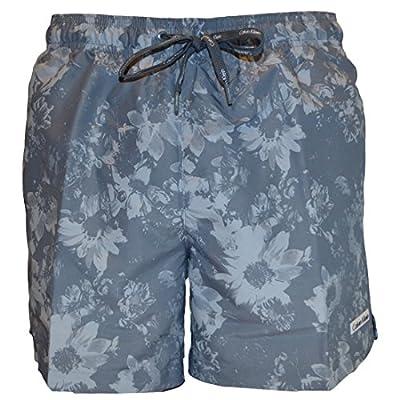 Calvin Klein Mens Core Floral Medium Drawstring Swimshort