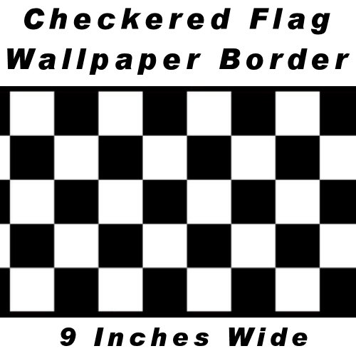 Images for Checkered Flag Cars Nascar Wallpaper Border-9 Inch (Black Edge)