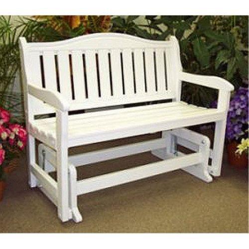Garden Bench Glider (SATIN WHITE) (35″H x 44″W x 26″D)