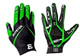 EliteTek RG-14 Football Gloves Youth and Adult (Neon Green, Youth M)