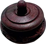 BKDT Marketing Brown Wooden Handicraft Hand Made Sindur / Jewellery Box Round Shape