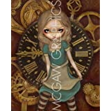 """Alice and Clockworks by Jasmine Becket-Griffith 10""""x8"""" Art Print Poster by Bruce McGaw"""