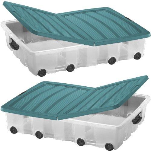 oxid7 unterbettkommode aufbewahrungsbox ordnungssystem unterbettbox rollbox rollenbox mit. Black Bedroom Furniture Sets. Home Design Ideas