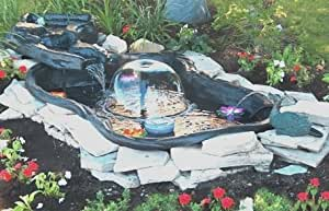 Algreen Folding Pond Kit With Streamlet Watercourse 144 Gallon Complete Pond