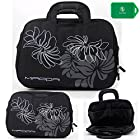 lightweight full protection laptop bag with carrying handles and shoulder strap- Black-Universal fit for Dell XPS 14z