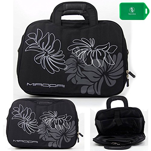 Lightweight Full Protection Laptop Bag With Carrying Handles And Shoulder Strap- Black-Universal Fit For Sony Vpcz122Gx